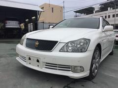 沖縄の中古車 トヨタ クラウン 車両価格 45万円 リ済込 平成16年 12.5万K パールホワイト