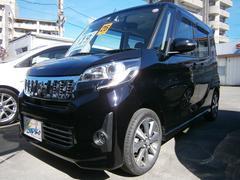 沖縄の中古車 三菱 eKスペースカスタム 車両価格 114万円 リ済込 平成26年 3.6万K ブラックM