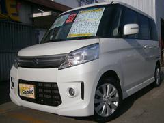 沖縄の中古車 スズキ スペーシアカスタム 車両価格 109万円 リ済込 平成25年 4.9万K パールホワイト