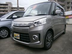 沖縄の中古車 スズキ スペーシアカスタム 車両価格 104万円 リ済込 平成25年 6.2万K シルバーM