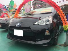 沖縄の中古車 トヨタ アクア 車両価格 119万円 リ済込 平成24年 8.0万K ブラック