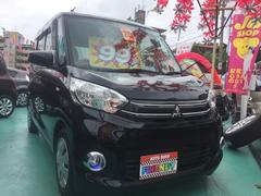 沖縄の中古車 三菱 eKスペース 車両価格 99万円 リ済込 平成26年 6.6万K ブラック