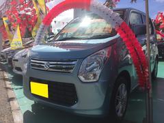 沖縄の中古車 スズキ ワゴンR 車両価格 66万円 リ済込 平成26年 6.5万K ライトブルー