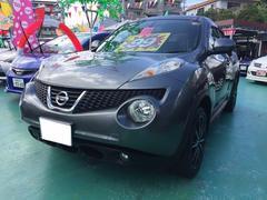 沖縄の中古車 日産 ジューク 車両価格 99万円 リ済込 平成23年 8.5万K グレーM