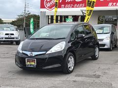 沖縄の中古車 ホンダ フィットハイブリッド 車両価格 95万円 リ済込 平成23年 7.8万K ブラック