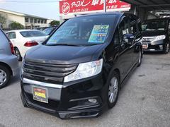 沖縄の中古車 ホンダ ステップワゴンスパーダ 車両価格 162万円 リ済込 平成23年 8.4万K ブラックM