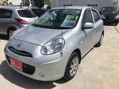 沖縄の中古車 日産 マーチ 車両価格 76万円 リ済込 平成25年 1.1万K シルバーM