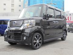 沖縄の中古車 ホンダ N BOXカスタム 車両価格 109万円 リ済込 平成24年 7.7万K クリスタルブラックパール
