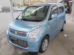 沖縄の中古車 スズキ ワゴンR 車両価格 65万円 リ済込 平成25年 5.3万K フィズブルーパールメタリック