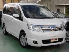 沖縄の中古車 日産 セレナ 車両価格 53.9万円 リ済込 平成20年 9.2万K ホワイトパール