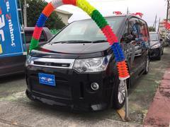沖縄の中古車 三菱 デリカD:5 車両価格 89万円 リ済込 平成19年 9.7万K ブラック