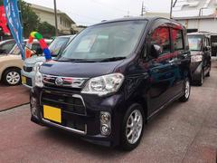 沖縄の中古車 ダイハツ タントエグゼ 車両価格 72万円 リ済込 平成24年 5.3万K 紺