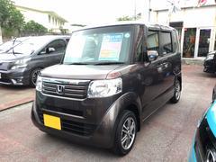 沖縄の中古車 ホンダ N BOX 車両価格 105万円 リ済込 平成26年 1.5万K ブラウン