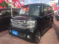 沖縄の中古車 ホンダ N BOXカスタム 車両価格 123万円 リ済込 平成27年 2.2万K ブラック