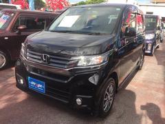 沖縄の中古車 ホンダ N−WGNカスタム 車両価格 115万円 リ済込 平成27年 1.0万K ブラック