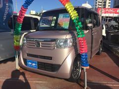 沖縄の中古車 ホンダ N BOX 車両価格 93万円 リ済込 平成25年 6.3万K チェリーシェルピンクII