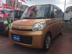 沖縄の中古車 スズキ スペーシア 車両価格 79万円 リ済込 平成25年 2.4万K ゴールド