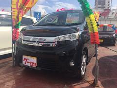 沖縄の中古車 三菱 eKカスタム 車両価格 65万円 リ済込 平成25年 9.8万K ブラック