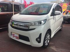沖縄の中古車 三菱 eKカスタム 車両価格 75万円 リ済込 平成25年 3.3万K ホワイト