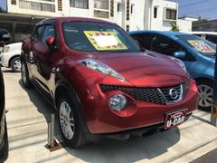 沖縄の中古車 日産 ジューク 車両価格 106万円 リ済込 平成24年 7.0万K ラディアントレッドPM