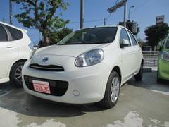 沖縄の中古車 日産 マーチ 車両価格 59万円 リ済込 平成23年 7.3万K パール