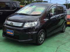 沖縄の中古車 ホンダ フリードスパイクハイブリッド 車両価格 118万円 リ済込 平成24年 8.1万K ブラックM