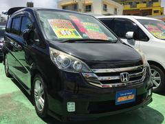 沖縄の中古車 ホンダ ステップワゴン 車両価格 88万円 リ済込 平成20年 8.3万K ブラック