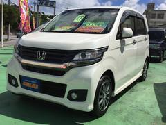 沖縄の中古車 ホンダ N−WGNカスタム 車両価格 124万円 リ済込 平成27年 4.3万K パールホワイト