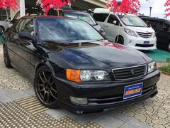 沖縄の中古車 トヨタ チェイサー 車両価格 97万円 リ済込 平成10年 19.8万K DグリーンM