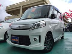 沖縄の中古車 スズキ スペーシアカスタム 車両価格 118万円 リ済込 平成26年 6.2万K パールホワイト