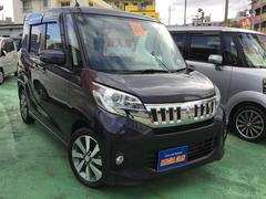 沖縄の中古車 三菱 eKスペースカスタム 車両価格 108万円 リ済込 平成26年 5.2万K ダークパープルM