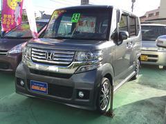 沖縄の中古車 ホンダ N BOXカスタム 車両価格 97万円 リ済込 平成24年 5.9万K ダークグレーM