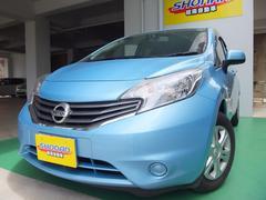 沖縄の中古車 日産 ノート 車両価格 78万円 リ済込 平成25年 6.1万K ブルーM