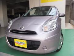 沖縄の中古車 日産 マーチ 車両価格 49万円 リ済込 平成22年 6.9万K ピンク