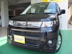 沖縄の中古車 スズキ ワゴンRスティングレー 車両価格 72万円 リ済込 平成24年 7.9万K ブラックM