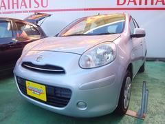 沖縄の中古車 日産 マーチ 車両価格 49万円 リ済込 平成23年 6.5万K シルバーM