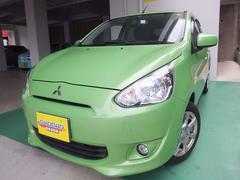 沖縄の中古車 三菱 ミラージュ 車両価格 56万円 リ済込 平成25年 4.9万K LグリーンM