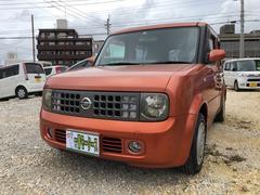 沖縄の中古車 日産 キューブ 車両価格 20万円 リ済込 平成16年 12.9万K ライトブラウン