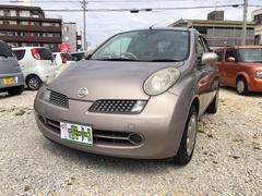 沖縄の中古車 日産 マーチ 車両価格 16万円 リ済込 平成18年 7.6万K ブラウンM