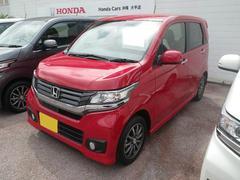 沖縄の中古車 ホンダ N−WGNカスタム 車両価格 116.8万円 リ済別 平成27年 0.3万K ミラノレッド