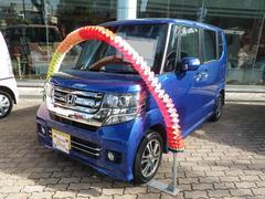 沖縄の中古車 ホンダ N BOXカスタム 車両価格 156.8万円 リ済別 平成28年 0.5万K ブルー