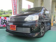 沖縄の中古車 日産 セレナ 車両価格 20万円 リ済込 平成14年 15.4万K ブラックM