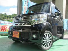 沖縄の中古車 ホンダ N BOXカスタム 車両価格 120万円 リ済込 平成24年 3.2万K ブラックM