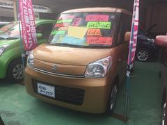 沖縄の中古車 スズキ スペーシア 車両価格 84万円 リ済込 平成25年 2.5万K オレンジ