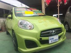 沖縄の中古車 日産 マーチ 車両価格 64万円 リ済込 平成24年 3.8万K グリーン