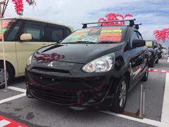 沖縄の中古車 三菱 ミラージュ 車両価格 64万円 リ済込 平成24年 40.0万K ブラック