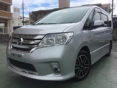 沖縄の中古車 日産 セレナ 車両価格 129万円 リ済込 平成25年 8.6万K シルバー