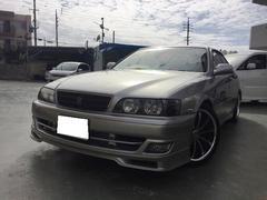 沖縄の中古車 トヨタ チェイサー 車両価格 89万円 リ済込 平成10後 14.3万K シルバー