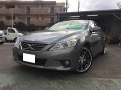 沖縄の中古車 トヨタ マークX 車両価格 88万円 リ済込 平成22年 7.1万K シルバー