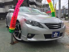 沖縄の中古車 トヨタ マークX 車両価格 108万円 リ済込 平成23年 8.4万K シルバー